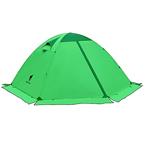 GEERTOP Portable 2 Person Camping Tent 4 Season Double Layer Backpacking Tent Lightweight Waterproof Easy Set Up Tent for Camp Outdoor Hiking Climbing Travel