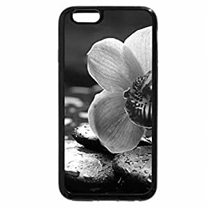 iPhone 6S Plus Case, iPhone 6 Plus Case (Black & White) - Delicate orchids