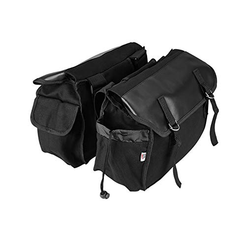 Saddle Bag for Motorcycle Panniers Bags for Bicycle Bike, 17L Large Capacity Saddlebags Tool Bag for Scooter Honda Suzuki Yamaha HD Street Sportster Softails Touring Dyna