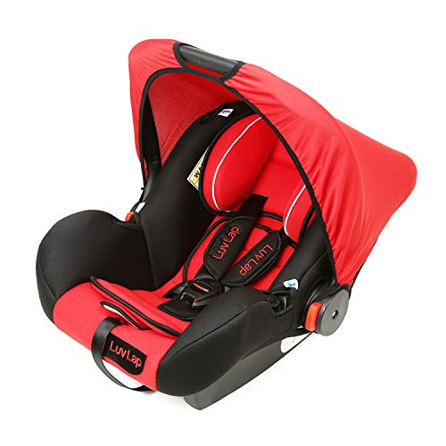 Baby Car Seat Amazon 4-in-1 Carry Cot with Canopy, 0 to 15 Months (Red)