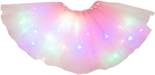 Girls Ladies Hot Pink Neon Sequin Tutu Skirt Childs Ballet Party Colour Fun Run