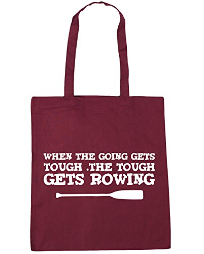 Tough 42cm Beach Gets the Gym Burgundy When HippoWarehouse Bag 10 litres Rowing x38cm The Going Shopping Gets Tote Tough xCqf6FI6