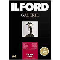 Ilford Galerie Smooth Pearl Inkjet Photo Paper A4 25+5 Sheets - Color: White