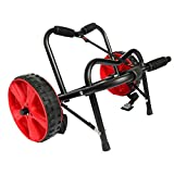 Onefeng Sports Universal Kayak Cart Boat Carrier for Carring Kayaks Canoes Boat Float Mats Tote Trolley (Single Wheel)