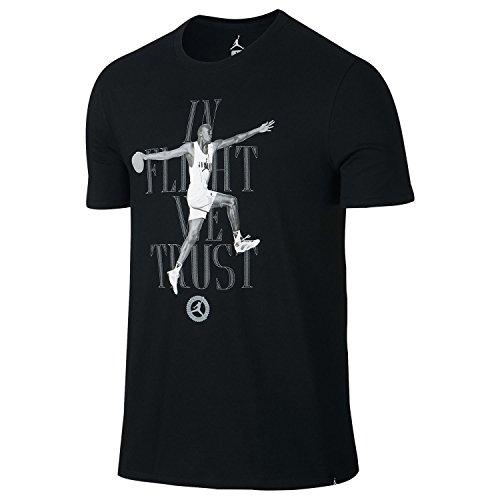 Jordan 7 I Flukt Vi Stole På Menns Sports Uformell T-shirt Svart / Hvit 850423-010 Hvit