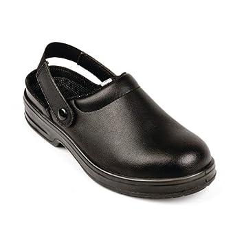 c0282e5fef Lites Safety Footwear A813-36 Unisex Clogs, Black: Amazon.co.uk ...