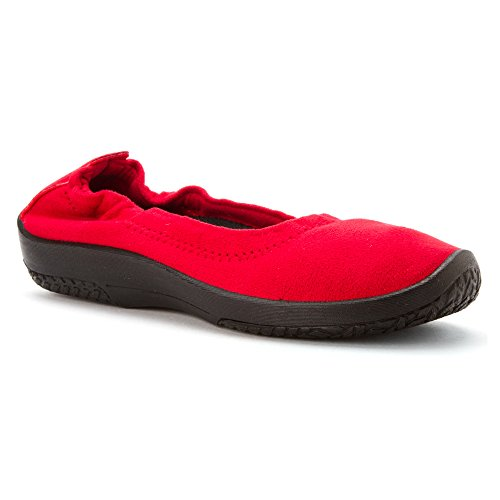 Arcopedico Women's L15D Slip On Loafers Shoes Suede Red
