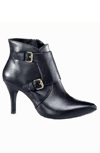 DAVID BRAUN Damen-Schuhe Stiefelette mit Schnallen Schwarz Größe 35