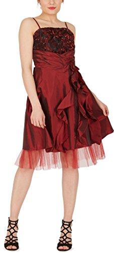 De 'April' Satén Rojo Cascada Vestido BlackButterfly Oscuro Bliss pZwgqRn7x