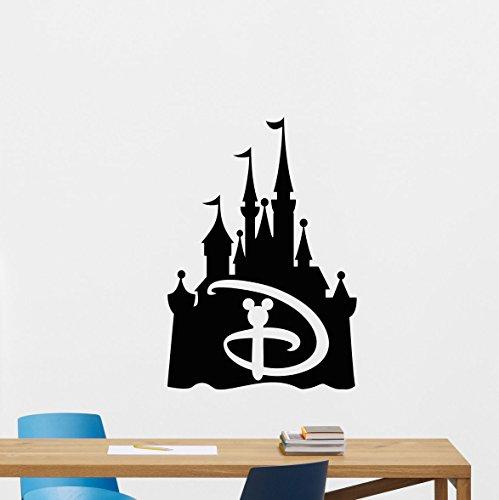 Disney Wall Decal Walt Disney Logo Castle Disneyland Sign Gi