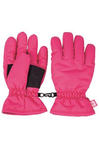 Mountain Warehouse Kids Ski Gloves - Snowproof Kids Gloves Bright Pink Small