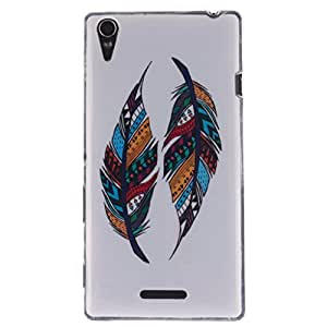 """ANGELLA-M Case For Sony Xperia T3 (5.3 """") D5103 D5102 Colorful Feather Flexible Silicone Slim Soft TPU Gel Protection Back Cover."""