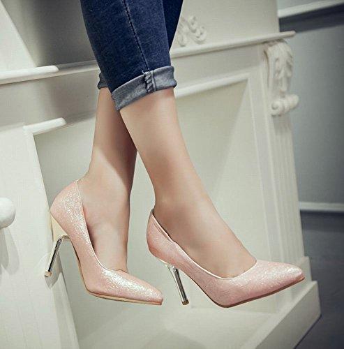Mee Shoes Damen simpel spitz Geschlossen high heels Pumps Pink