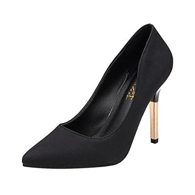 AOJIAN Women's Fashion Thin Heels Shoes Shallow Pointed Toe High Heels Shoes