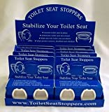 Toilet Seat Stoppers-8 Pack-Toilet Seat Stabilizers-Sturdy Commercial Grade