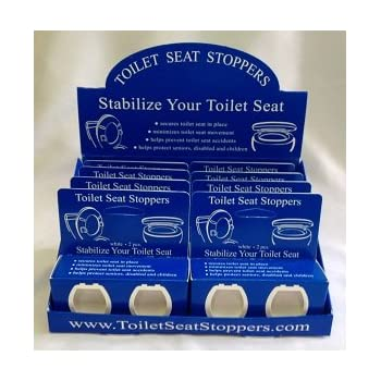 Amazon.com: Toilet Seat Stoppers-8 Pack-Toilet Seat Stabilizers ...
