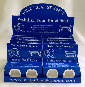 Toilet Seat Stoppers-8 Pack-Toilet Seat Stabilizers-Sturdy Commercial Grade high-quality