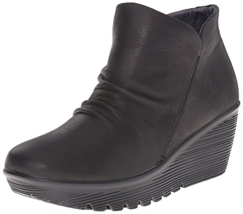 Double Parallel Black Skechers Boot Chelsea Great Women's E7PHw