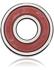 Cojinetes de scooter Teniendo bola 10x26x8mm 6000 2RS Rodamiento de bolas sellado de goma roja Escudos profundo del surco