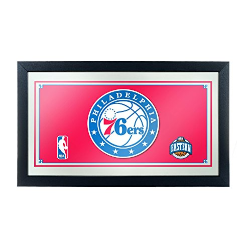 (NBA Philadelphia 76ers Framed Logo Mirror)