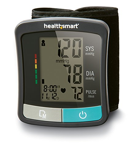 Blood Pressure Monitor for Wrist to Monitor Pulse, Heartbeat and Blood Pressure and includes Standard Wrist Cuff Size, Black ()