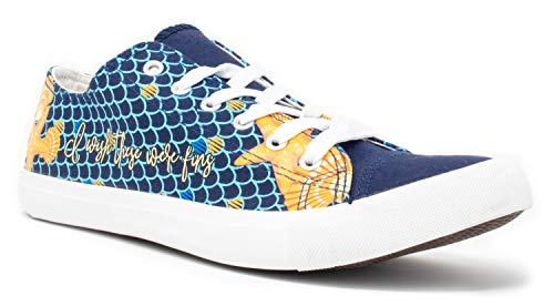 Mermaid Wish These were Fins Sneakers | Cute Gym Tennis Shoe Women Men Little - (Lowtop, US Men's 6, US Women's 8) -