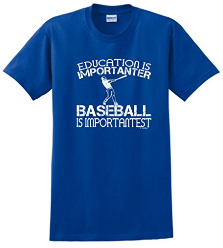 Baseball is Important Funny T-Shirt 2XL - Tornado Royal Socks