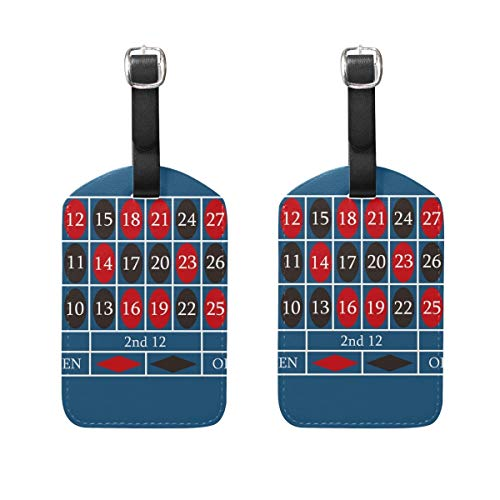 ASLGlicenseplateframeFG Blue Roulette Table Travel Pattern Luggage Tags 2pcs