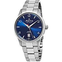 Alpina Alpiner Automatic Mens Stainless Steel Swiss Watch - 41mm Black Face Alpina Watch AL-525N4E6B