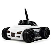 EchoAcc® WiFi Toy Tank i-Spy Toy Car Electronic with Camera Remote Control,Incredibly Lightweight Toy Car Automatic for Android/iOS Phone (White)