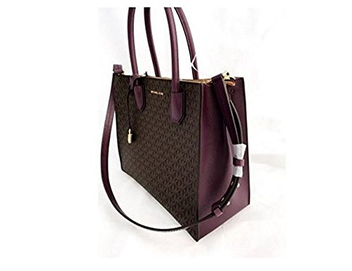 Michael Kors Mercer Large Logo Tote - Brown/Damson - 30S7GM9T3V-577 ()