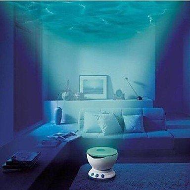 LED-luz de la noche del proyector de océano y ondas-proyector ...