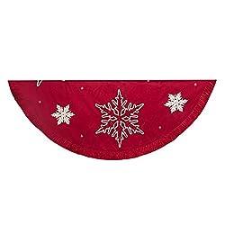 Kurt Adler Snowflake Embroidered and Pleated Tree skirt,...