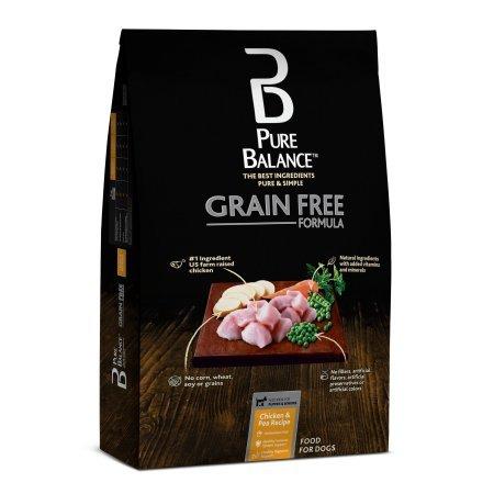 Pure Balance Grain Free Chicken & Pea Recipe Food for Dogs 24lbs (Chicken Peas Recipe)