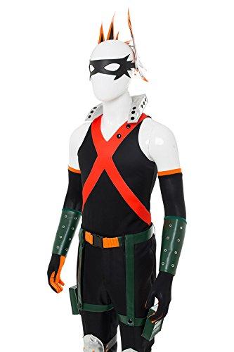 NoveltyBoy BNHA Boku No Hero My Hero Academia Katsuki Bakugou Battle Suit Cosplay Costume Tights (X-Small, Black) by NoveltyBoy (Image #5)