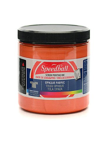 Speedball Opaque Fabric Screen Printing Inks Sherbet 8 Oz. [Pack of 2]