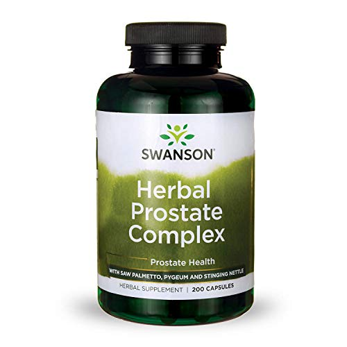 Swanson Herbal Prostate Complex Urinary Tract Support Men's Health Supplement 200 Capsules (Caps)