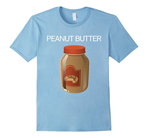 Mens Peanut Butter T-shirt Matching Halloween Costume Tshirts Medium Baby (Peanut Butter And Jelly Baby Halloween Costumes)