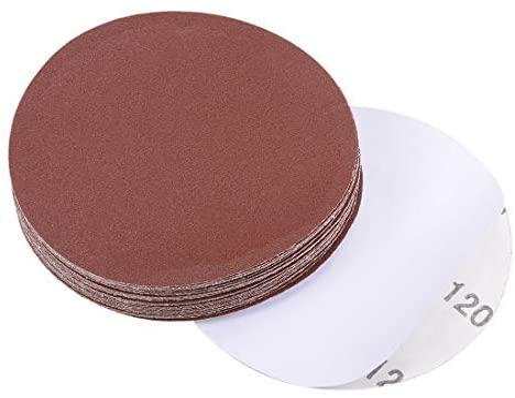 - 5 inch PSA sanding disc, aluminum oxide adhesive, back sandpaper, 120 grit, 30 pieces