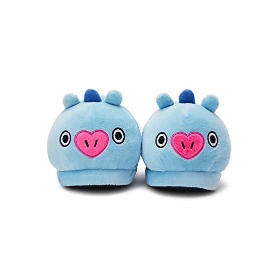 MANG Plush Slippers | BTS X Line Friends - Purple 3
