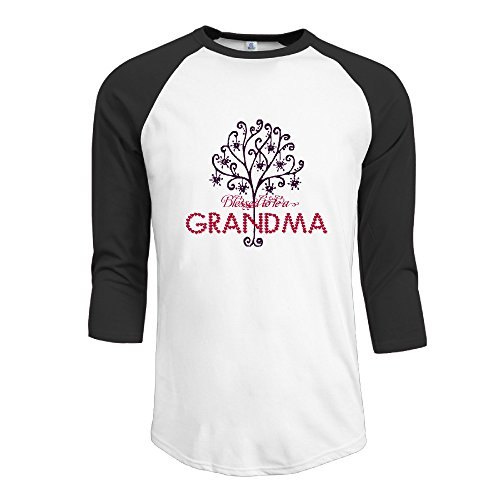 - Men's Raglan Blessed To Be A Grandma Offensive Casual Shirts 3/4 Sleeve