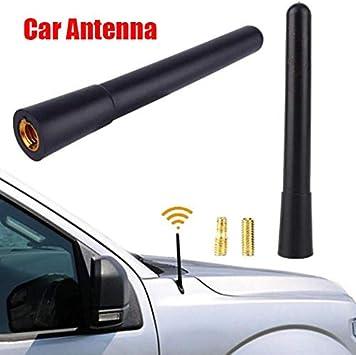 Universal Auto 1.4/'/' Carbon Fiber Black Antenna AM//FM Radio Aerial for Ford