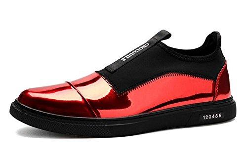 Männer Lace-Up Flats Skateboard Schuhe Leder Boutique Casual Schuhe Trend Sets von Fuß Schuhe , red , 41