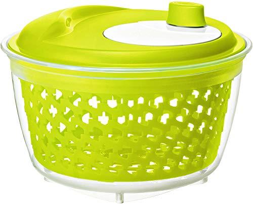 Rotho Fresh Salade spinner, Kunststof (PP) BPA-vrij, groen/transparant, 4.5l (25.0 x 25.0 x 16.5 cm)