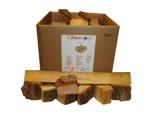 CharcoalStore Cherry Smoking Wood Chunks - Bark (5 Pounds)