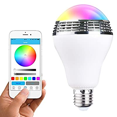 Bluetooth-4-0-Speaker-Led-Bulb-RGB-Colour-Changing-Smart-Light-APP-Remote-Control-Wireless-Dimmable