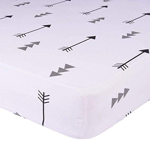 "Kyapoo Fitted Crib Sheets 100% Cotton Arrows Unisex Bedding Style for Toddler Girl & Boy - Baby Bed Mattress Protector - Crib Mattress Covers Hypoallergenic Breathable 52""x28"""