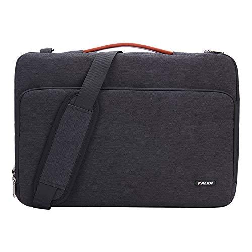 (KALIDI Laptop Bag 17.3 Inch Notebook Briefcase Messenger Shoulder Bag for Dell Alienware/MacBook/Lenovo/HP Travelling Business College Office,)