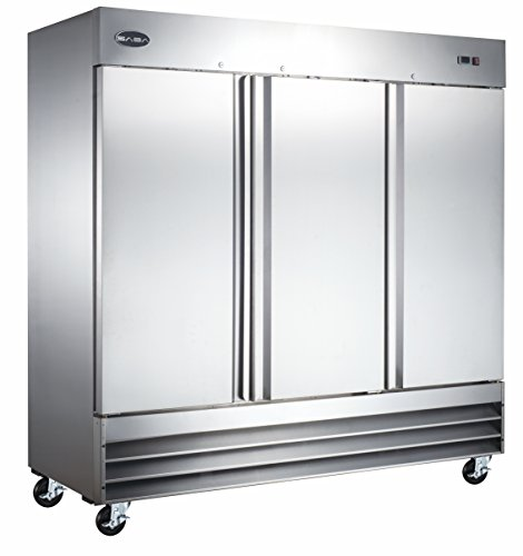 "Price comparison product image CFD-3RR 81"" Three Section Solid Door Reach in Refrigerator - 72 cu. ft."