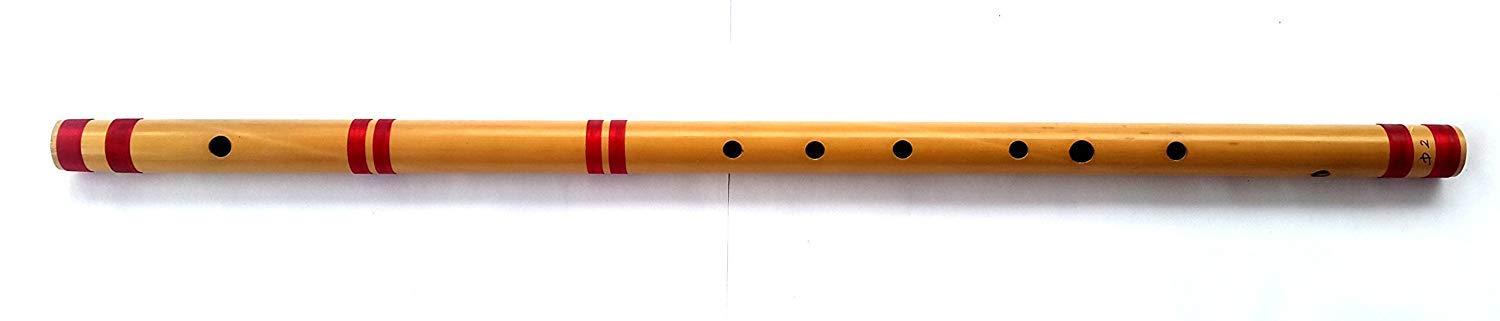 Indian Professional Bamboo Flute C Bass, 36'' GG v= 440 Nylon WireTired